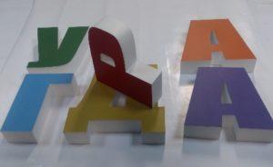 Фото цельноклееных объемных букв